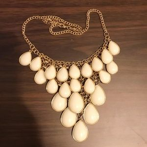 Jewelry - Fashion Jewelry Ivory and Gold Statement Necklace